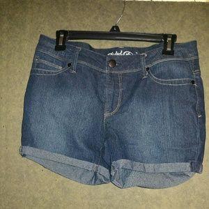 Nice! Dark denim shorts
